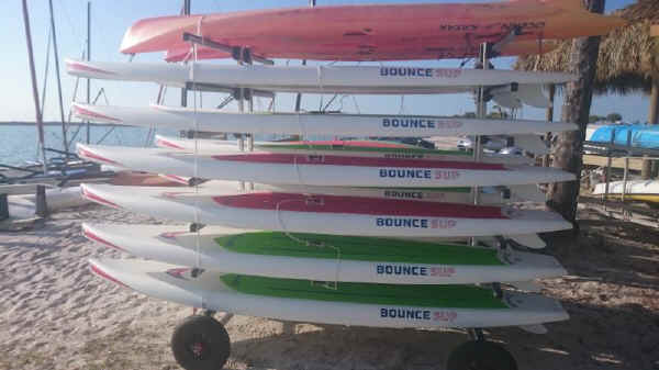 Dynamic 12 SUP Rolling Rack for twelve SUP Paddle Boards
