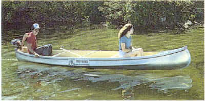 Michicraft T-16 Square Stern Canoe in Action
