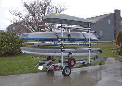 Seitech Trailer Conversion Racks for Small Sailboats, and other Boats