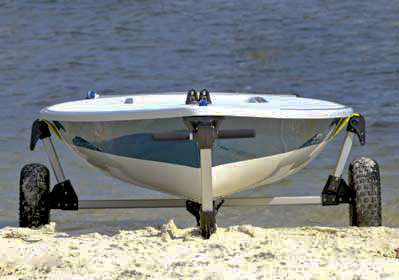 Seitech Beach Launching Dolly for Laser Sailboats
