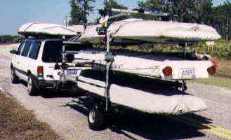 Seitech 3 Boats on Trailer with Van