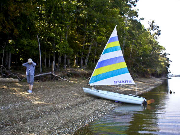 Super Snark Sailboat on the Beach