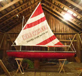 Super Snark Sailboat with Quaker Stae Oil Promotional Sail