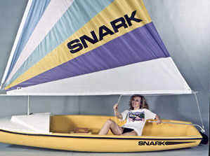 Snark Sunflower rigged for sailing