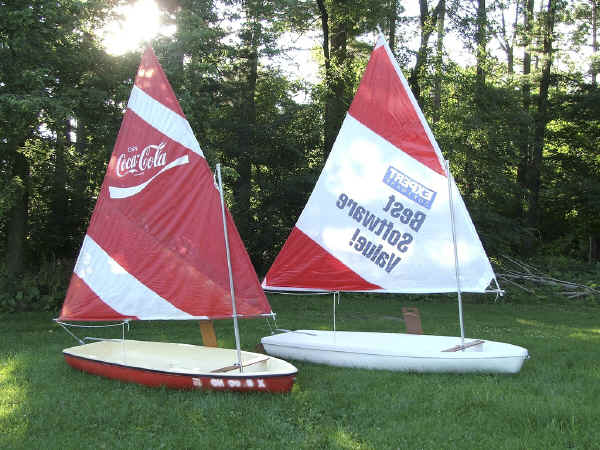 Super  Snark with a Coca Cola Promotional Sail