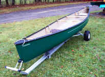 Canoe on Trailex Universal Dolly