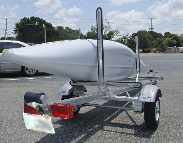 Trailex SUT-200-S Trailer Shown With Dual Kayak Conversion Kit and One Kayak