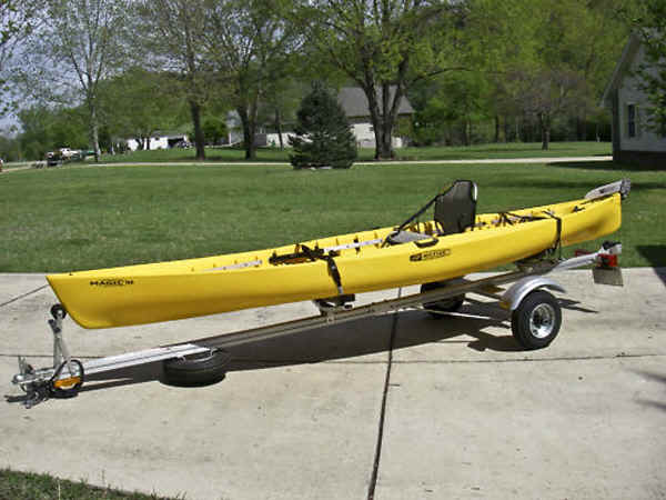Single Kayak Trailer by Trailex