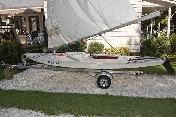 Trailex SUT-200-S Trailer Shown With Sunfish Sailboat