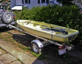 Snark Sunflower Sailboat on a Trailex SUT-200-S Trailer