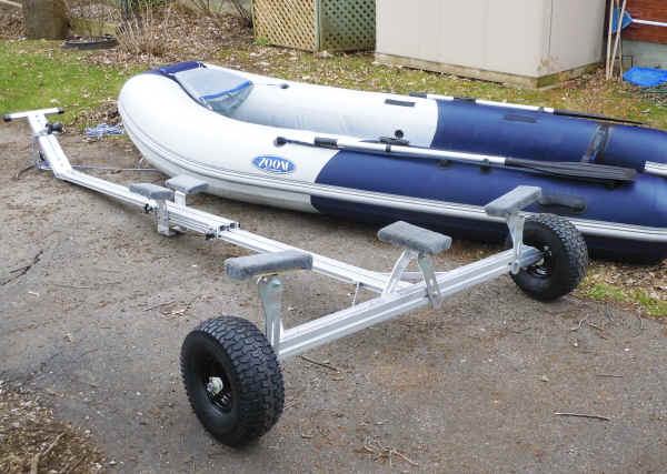 Inflatable Boat Option on Trailex SUT-300-UBeach Launching  Dolly