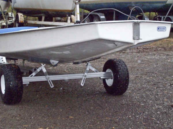 Trailex SUT-300-U with Sunfish Sailboat