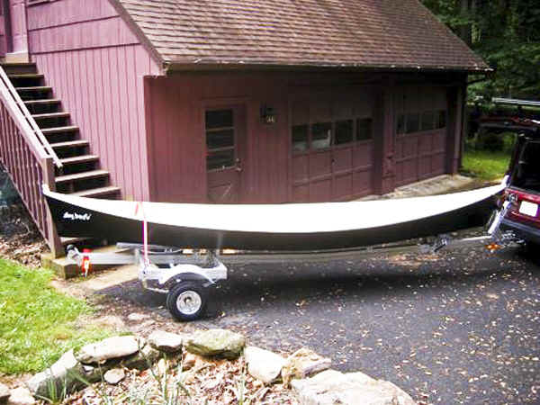 Trailex SUT-350-S Trailer with a Peace Canoe