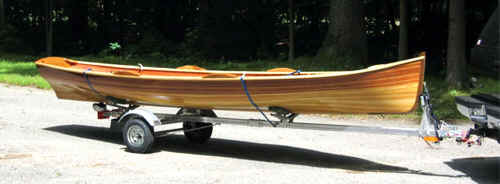 Trailex SUT-200-S with Wood Strip Canoe