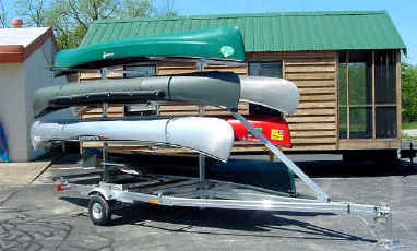 Trailex UT-1000-8  Multiple Canoe Trailer
