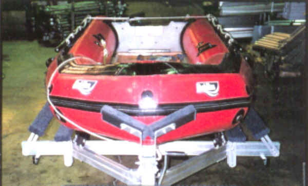 Achilles Iflatable Boat on a Trailex Trailer