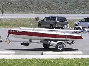 Trailex SUT-250L-S Trailer with Zuma Sailboat