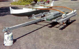 Trailex SUT-450-I  Trailer with a 12' Hawaiian Outrigger Canoe