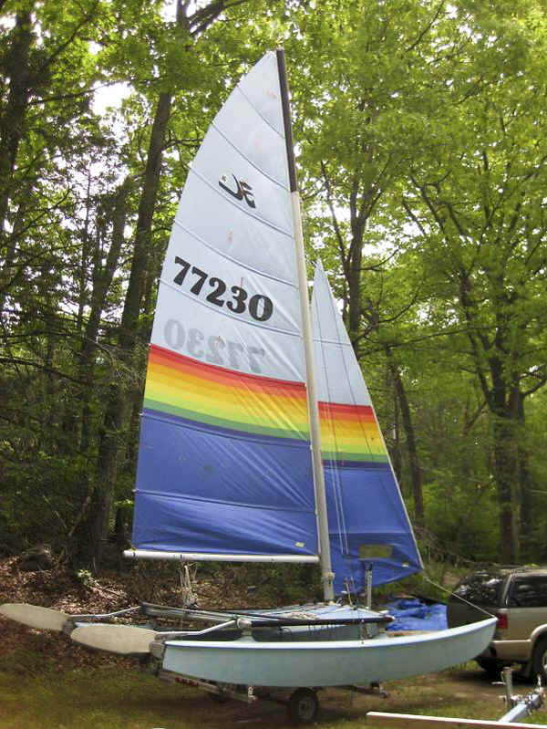 Hobie 16 Catamaran on the Trailex TX-416 Trailer