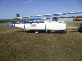 Nacra 500 Catamaran on Trailex TX-418 Trailer